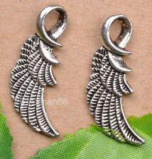 wholesale 10pcs tibetan silver wing Charm Pendant Fit necklace 31mm