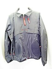 ECKO FUNCTION mens light weight coat size large black red trim              XE8