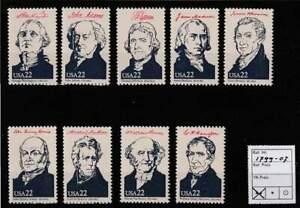 America / USA postfris 1986 MNH 1799-1807 - Presidents of the United States
