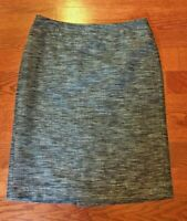 Ann Taylor Black Tweed Pencil Skirt Women's Size 4 Lined
