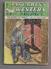 Zane Grey's Western Mag Dec 1948 Pulp Owen Wister Harry Sinclair Drago Eugene Cu