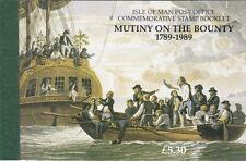 Isle OF MAN FRANCOBOLLI Libretto: 1989 ammutinamento sull' Bounty SG SB20 MNH
