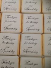 50 Gold/Ivory Neapolitan squares thank you for sharing/wedding favours