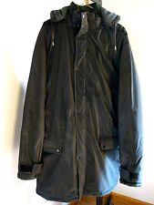 Serge Platini  BLACK Men's  Coat/Jacket XL HEAVY WTH HOOD