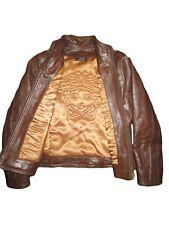 VERSACE Women Vtg Collector Fashion Leather Medusa Embossed Jacket Coat sz XS/S