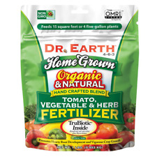 DR EARTH Tomato Vegetable Herb Fertilizer 1lb Organic Garden Crop Plant Dry Food