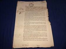 1768 antique Royal document Alsace Loan? Lucas Claremont Paris Finance Council
