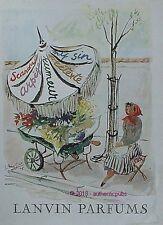 PUBLICITE LANVIN PARFUMS SCANDAL ARPEGE RUMEUR SIGNE GUILLAUME GILLET DE 1948 AD