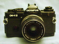 OLYMPUS OM-4T BLACK CAMERA BODY + ZUIKO 28mm F2 LENS
