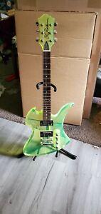 bc rich mockingbird guitar Acrylic Green Rare