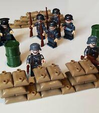 Lego 2eme Guerre Mondiale : Soldat, Officier, Armes, Canons WW2 Custom