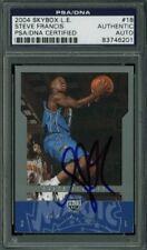 Magic Steve Francis Authentic Signed Card 2004 Skybox L.E. #18 PSA/DNA Slabbed