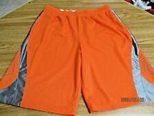 Mens UNDER ARMOUR orange gray LOOSE XL longer shorts