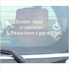Scooter Hoist In Operation-Window Sticker Car,Bus.Disability,Disabled,Mobility