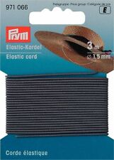 € 1,65 / m Prym Elastic-Kordel grau 3m/Ø1,5mm Hutgummi Bastelgummi 971066
