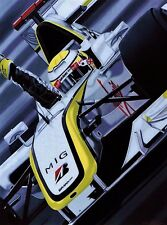 Jenson Button  90x70cms cms limited edition F1 art print by Colin Carter