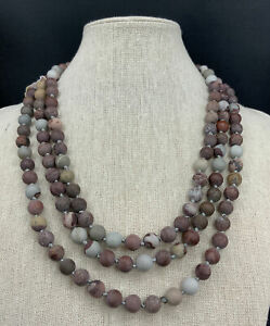 Barse Great Lengths Necklace- Matte Jasper-NWT