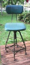 Vintage Machine Age Modern Industrial 1950's Toledo Metal Machinist Stool Chair