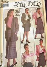Simplicity Go Everywhere pattern 8296 Misses Skirt, Blouse, Jacket size 14 uncut