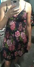 Derek Heart Navy Blue Floral Fit&Flare Summer Dress 100% Cotton Size M UEC