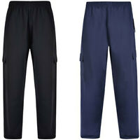 KAM Mens Big Plus Size Joggers cargo pants for Men Light Weight Elastic Waist