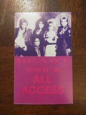 Heart 1985-86 Tour Backstage Pass Concert Unlaminated Card Concert VIP