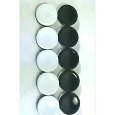 Lot of 10 Othello Game Parts Pieces Replacement Black White Discs Tokens Crafts