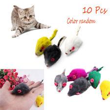 New 10Pcs Rabbit Fur False Mouse Pet Cat Toys Mini Funny Playing Toys For Cats