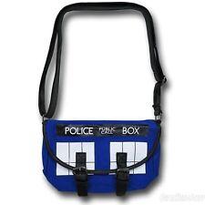 "NEW Doctor Who ""TARDIS""  Buckle Messenger Shoulder Bag(Bioworld) & Free Patch!"