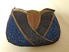 Teal, Black, Gold Sequin Evening Bag/Clutch with Strap
