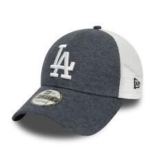 Cappellino Trucker Visiera Curva New Era Los Angeles Dodgers Blu Melange Unisex