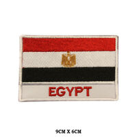 EGYPT National Flag Embroidered Patch Iron on Sew On Badge For Clothes etc