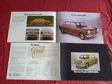 N°4502 / AUSTIN morris :  catalogue english text  berline 2002 et 1800    1972