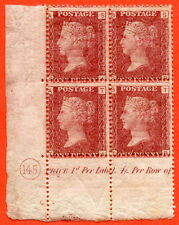 """SG. 43/44. """" SA SB TA TB """" 1d red. Plate 145. A very fine lightly mounted mint."""