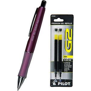 Pilot Dr Grip Gel With Refills, Mauve Barrel, 0.7mm Fine Point, Black Gel Ink