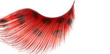 STARGAZER FALSE EYELASHES EYE LASHES #66 LONG RED WITH BLACK SPOTS FANCY DRESS