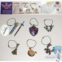 Zelda Skyward Sword Metal Item Collection keychain set of 6 Master Sword.. *NEW*