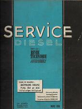 Revue Technique Automobile- Service Diesel - Moteurs DEUTZ F/AL 514 et 614