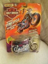 NEW 1993 MATCHBOX HARLEY-DAVIDSON MOTORIZED STUNT CYCLE RED FXR LOW RIDER MODEL