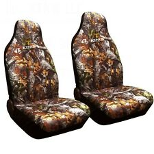 2pc KING'S CAMO WOODLAND SHADOW CAMOUFLAGE SEAT COVERS - UNIVERSAL BUCKET-
