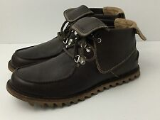 Timberland Fashion Sneaker Boot Brown Leather Abington Roll Top Mens US 11