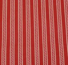 Collection of Edelin Wille Marcus Brothers BTY Red Off-White Stripe Christmas