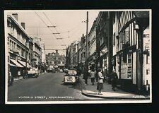 Staffordshire Staffs WOLVERHAMPTON Victoria St 1954 RP PPC by Valentine