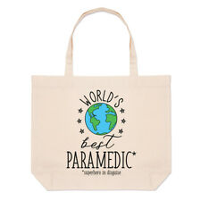 World's Best Paramedic Large Beach Tote Bag Funny Favourite Doctor Ambulance