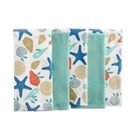 The Big One SEA SHELL TOSS PRINT Kitchen Towel 5 Pack