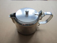 """New listing Stainless steel individual teapot - 2 1/2"""" tall"""