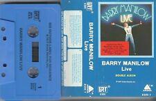 "*RARE* Original BLUE LABEL Manilow ""LIVE"" DOUBLE Album [Cassette 1977] Arista VG"