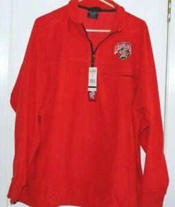 University of Maryland Terps  Big Ball Sports Fleece Quarter Zip Pullover New