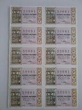Billete entero Lotería Nacional sorteo 17/1970 (16 de junio) LIBRO CONSULADO MAR