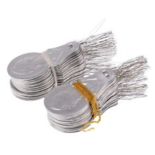 100pcs Aluminium Wire Needle Threaders for Hand Stitch Insertion Sewing Tool